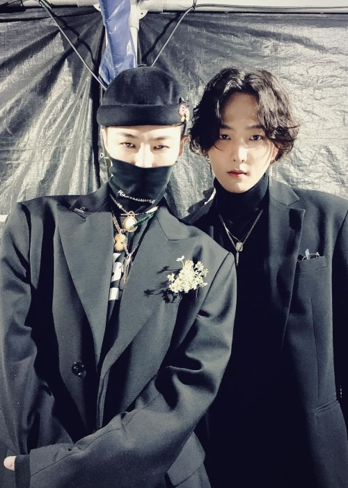 Rapper G-Dragon and Donghyuk as seen in a picture that was taken in November 2019