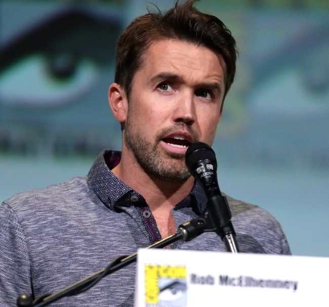Rob McElhenney speaking at the 2016 San Diego Comic Con International, for 'Game of Thrones', at the San Diego Convention Center in San Diego, California