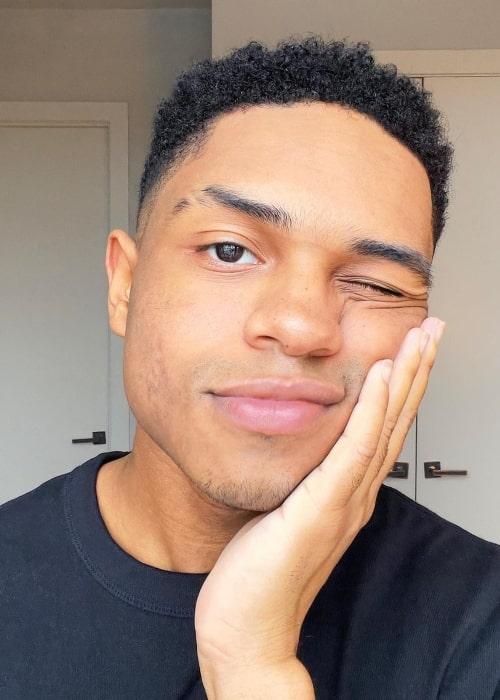 Roman Banks as seen in a selfie that was taken in New York in March 2021