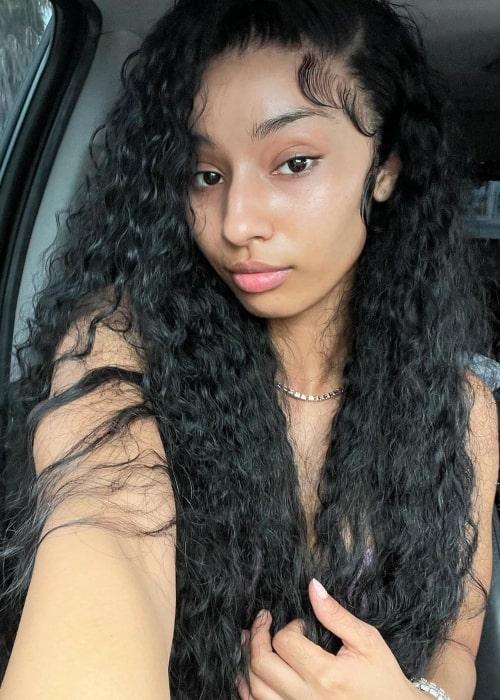 Rubi Rose as seen in a selfie that was taken in South Los Angeles in April 2021