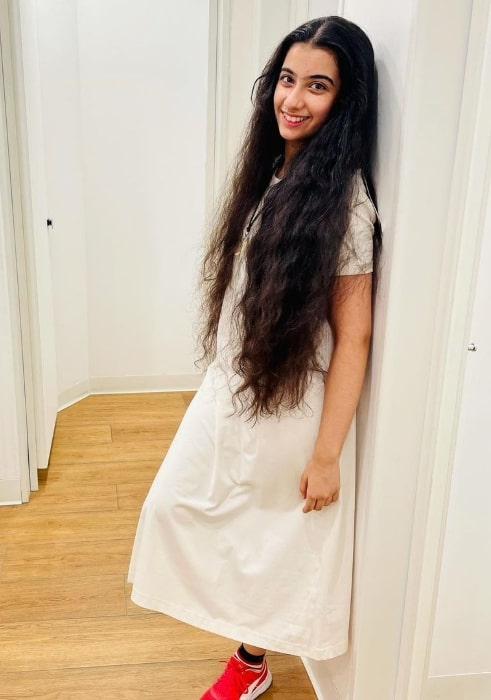 Ruhana Khanna as seen while smiling for a picture in Delhi in July 2021