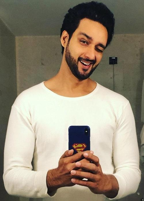 Saurabh Raj Jain as seen while taking a mirror selfie in December 2020