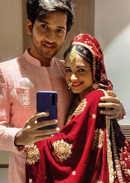Shagun Sharma as seen in a selfie that was taken with her co-star Rajat Verma in Diu in May 2021