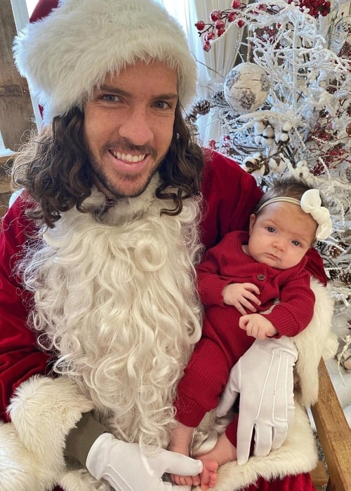 Shaun McBride as seen in a picture that was taken with his youngest son Navey McBride in December 2020