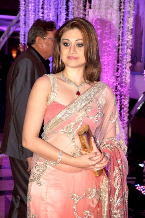 Shefali Jariwala pictured at Sunidhi Chauhan's wedding reception at Taj Lands End
