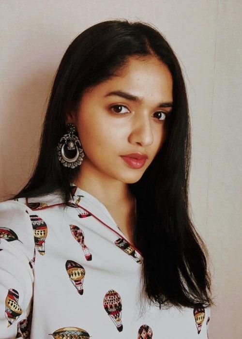 Sunaina as seen in a selfie that was taken in Hyderabad in July 2021