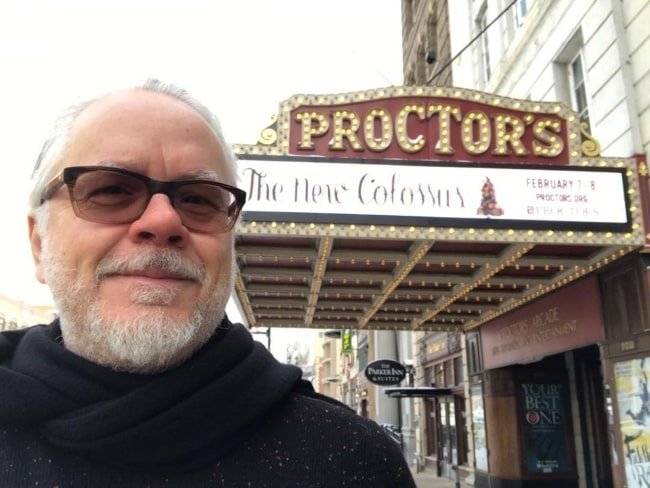 Tim Robbins in February 2020 thanking Schenectady for being a great audience