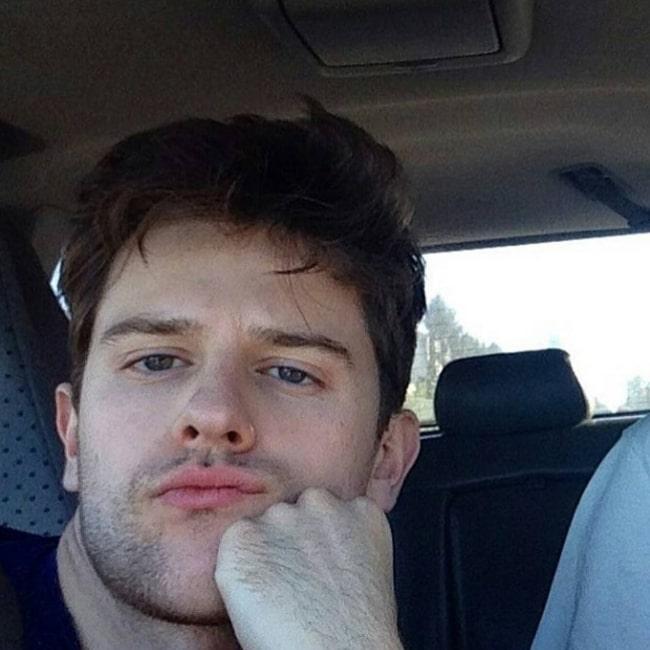 Travis Tope as seen in a selfie that was taken in August 2016