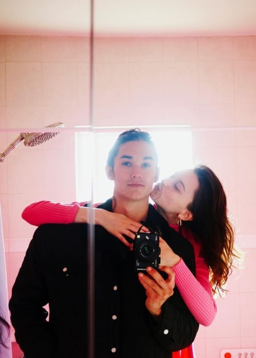 Valentina Cytrynowicz as seen in a selfie with her beau BooBoo Stewart in January 2021
