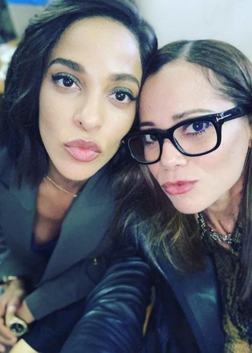 Victoria Cartagena as seen in selfie that was taken with fellow actress Megalyn Echikunwoke in September 2019