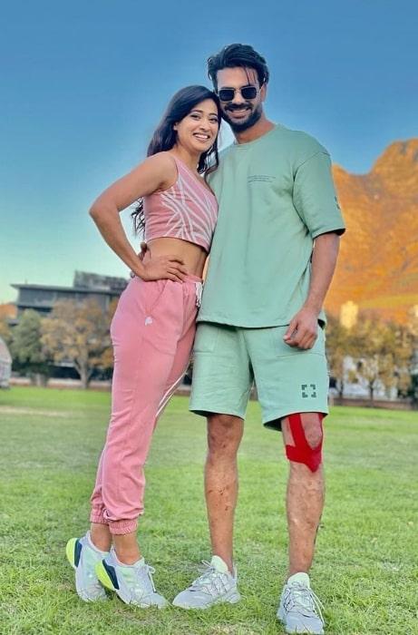 Vishal Aditya Singh and Shweta Tiwari in May 2021