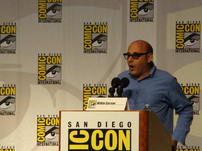 Willie Garson seen speaking at Comic-con in 2010