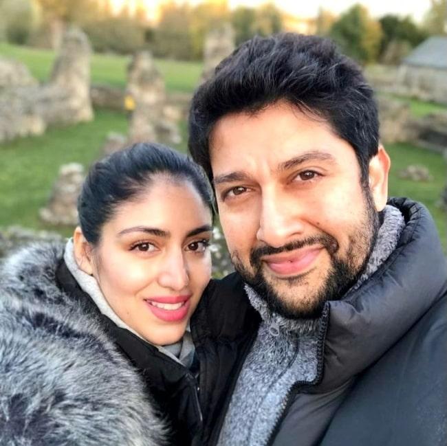 Aftab Shivdasani as seen while taking a selfie with Nin Dusanj Shivdasani in the United Kingdom