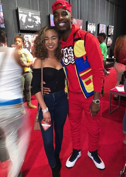 Alexis Marie as seen in a picture with actor and rapper Hitman Holla in May 2019