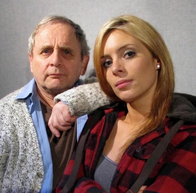 Amy Pemberton and Sylvester McCoy