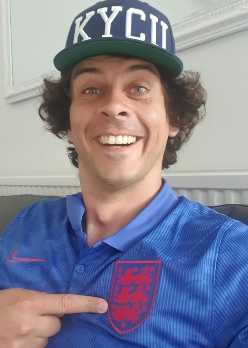 Andy Day in a selfie in July 2021