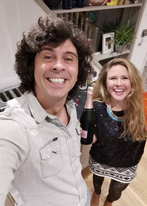 Andy Day smiling in a selfie alongside Kat Woolfe