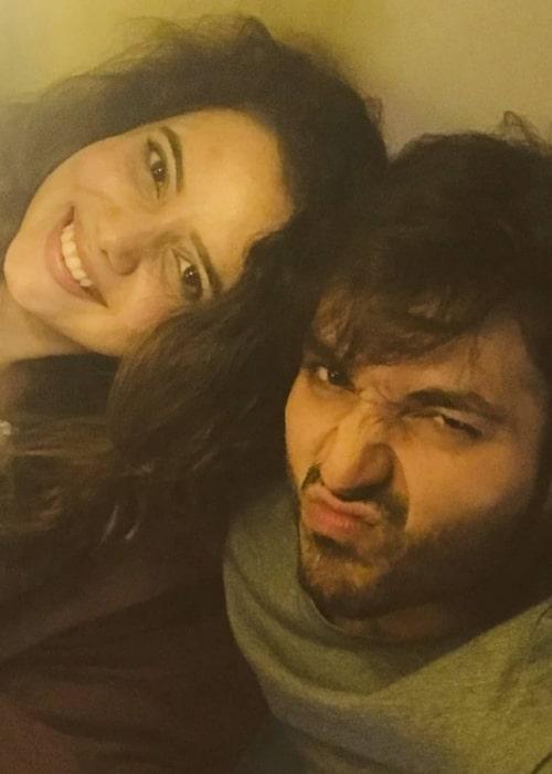 Ankit Narang as seen in a selfie that was taken with actress Shruti Kanwar at Interface Heights in September 2018