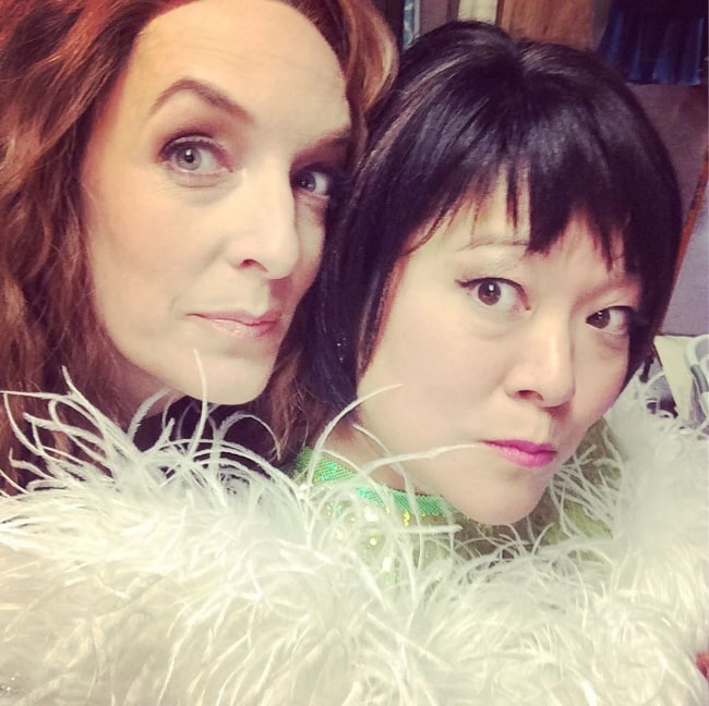 Ann Harada (Right) and Julia Murney as seen in an Instagram post in November 2017