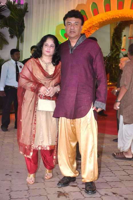 Anu Malik and his wife at ISCKON temple in 2012
