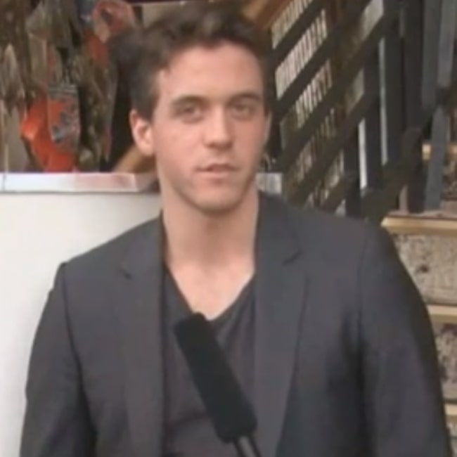 Ashley Zukerman as seen in a screenshot taken from his interview with Accessreel.com on April 14, 2011