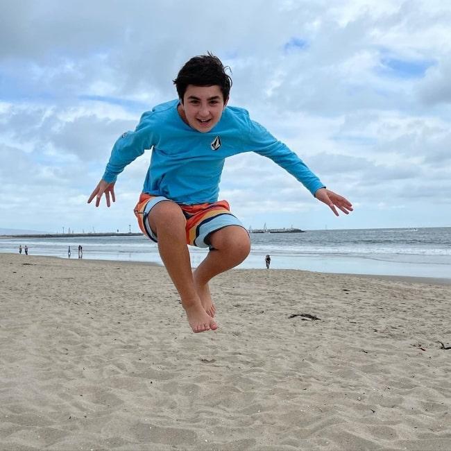 Benjamin Valic as seen while enjoying his time at the beach in Marina del Rey, California in April 2021