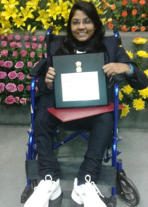 Bhavina Patel as seen in a picture that was taken in July 2017