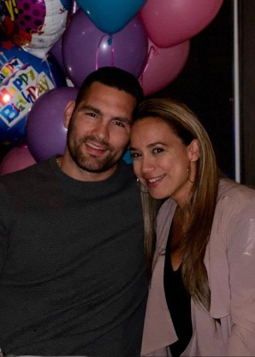 Chris Weidman and Marivi Caban, as seen in February 2020