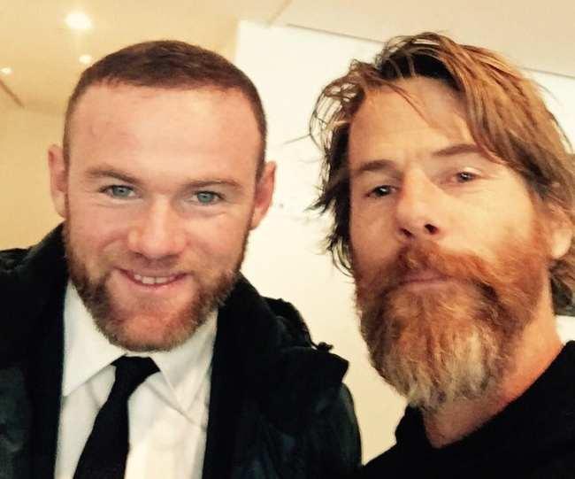 Daniel seen in a selfie with Wayne Rooney in 2016
