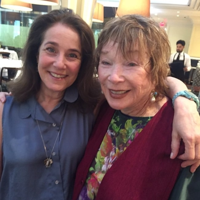Debra Winger as seen in a picture with fellow actress Shirley MacLaine in New York City, New York in May 2015