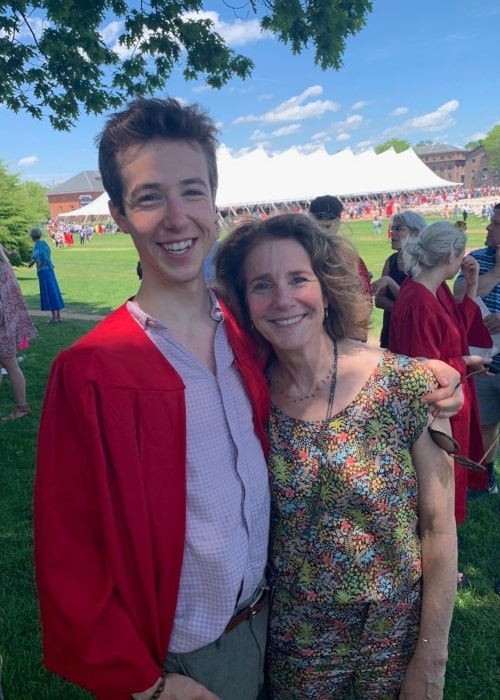 Debra Winger as seen in a picture with her son Sam Howard in May 2019