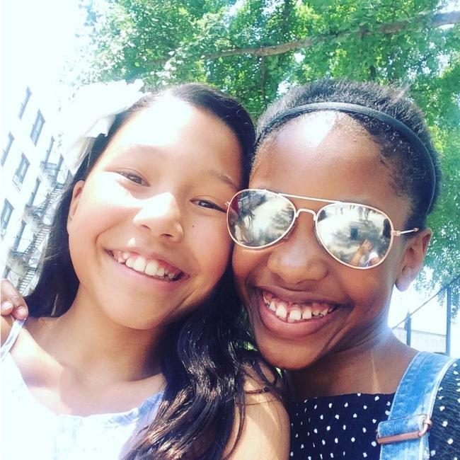 Demi Singleton as seen in selfie with her friend charlotteanub in June 2017