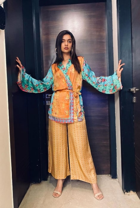 Divya Agarwal as seen while posing for the camera in August 2021