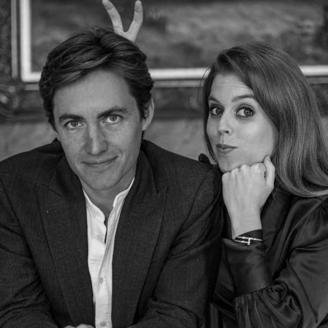 Edoardo and Princess Beatrice as seen in 2019