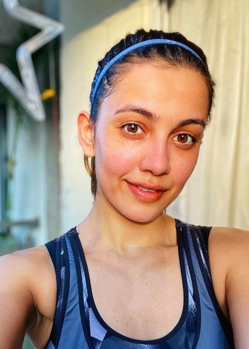 Esha Kansara as seen in a selfie that was taken in Mumbai, Maharashtra in January 2021