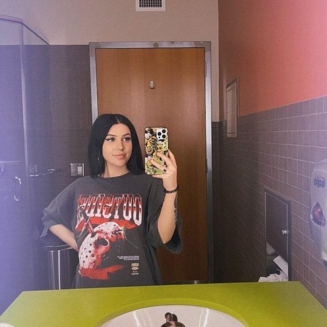 FaZe Kalei as seen in a selfie that was taken in Los Angeles, California in July 2021