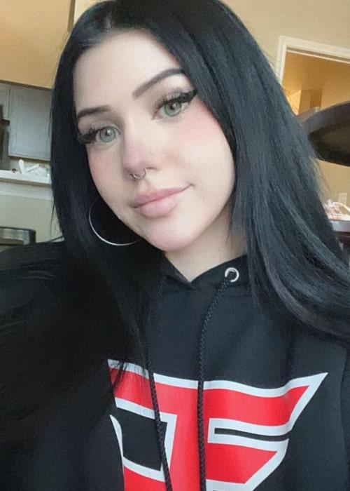 FaZe Kalei in a selfie that was taken in June 2021