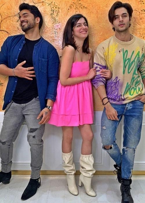 From Left to Right - Gautam Gulati, Divya Khosla Kumar, and Siddharth Gupta as seen in an Instagram post in February 2021