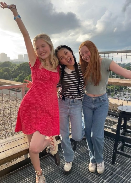 From Left to Right - Shay Rudolph, Momona Tamada, and Vivian Watson in July 2021
