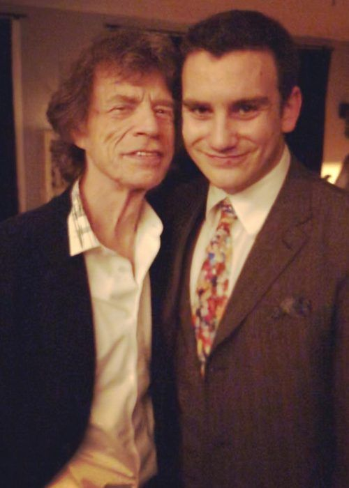 Gabriel Jagger as seen with his dad Mick Jagger on his 21st birthday in 2018