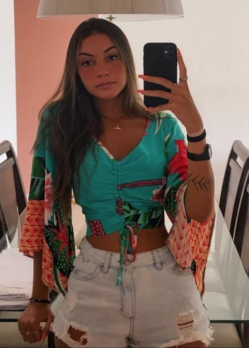 Gabriela Moura as seen in a selfie that was taken in February 2021