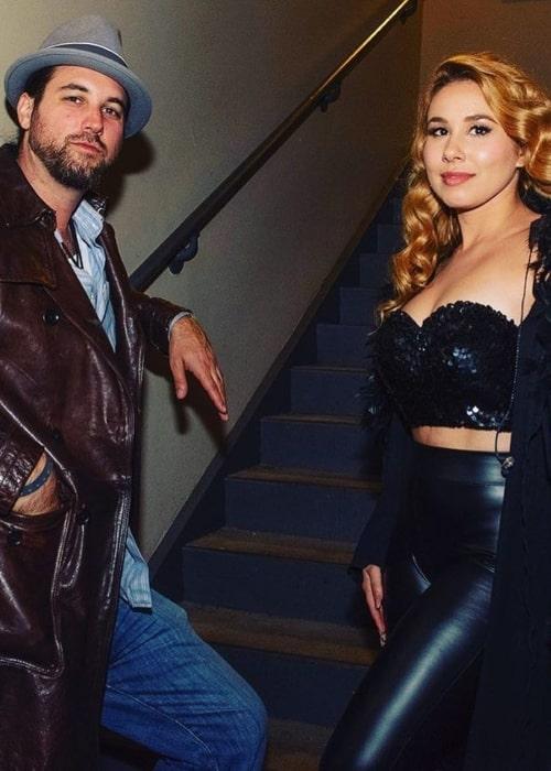 Haley Reinhart and Drew Dolan, as seen in June 2021