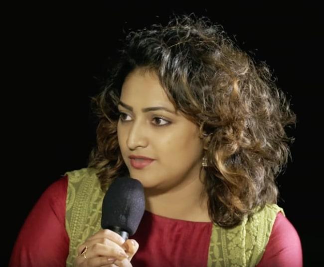 Hariprriya as seen while in conversation with Sadhguru in 2019