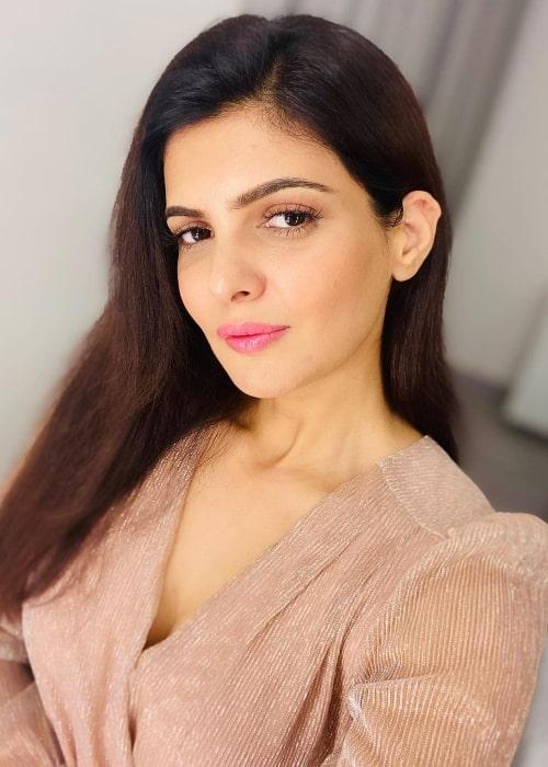 Ihana Dhillon as seen while taking a selfie in Mumbai, Maharashtra in February 2021
