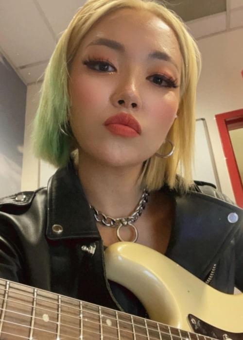 JinJoo Lee as seen in a selfie that was taken in June 2021