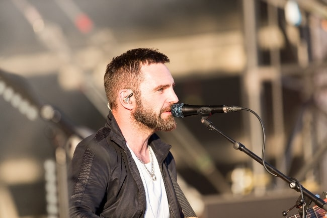 Johnny McDaid pictured while performing with 'Snow Patrol' at Rock am Ring 2018