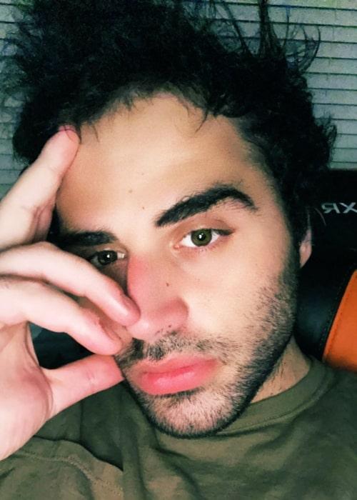 Jon Zherka as seen in a selfie that was taken in April 2021