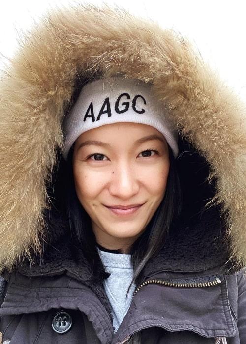 Kara Wang as seen while taking a selfie in 2021
