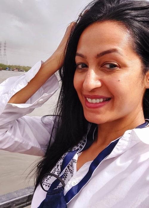 Kashmera Shah as seen in a selfie that was taken in July 2021