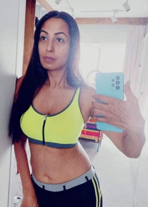 Kashmera Shah in a selfie that was taken in July 2021